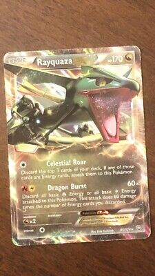 Rayquaza EX 85/124 Holo Rare Dragons Exalted Pokemon Mint condition