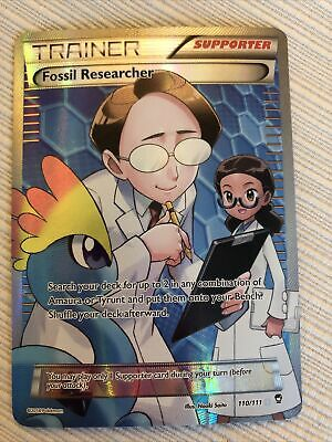 POKEMON Fossil Researcher 110/111 - XY Furious Fists Ultra Rare Full Art Holo