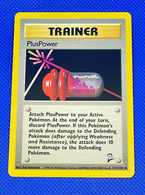 Pokemon WOTC Base Set 2 113/130 PlusPower Trainer Uncommon Near Mint NM