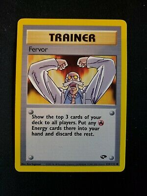 Fervor 124/132 Pokemon TCG Gym Challenge Unplayed NM Near Mint
