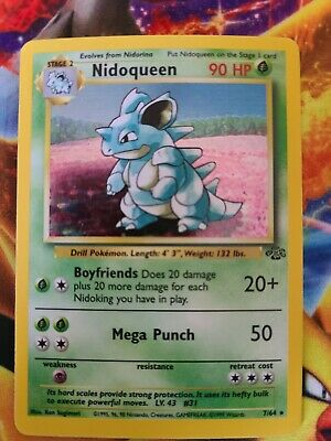 Pokemon Nidoqueen Holographic Rare Jungle Set 7/64 1999. Near Mint