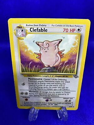 Clefable Jungle 17/64 Rare Non-Holo Pokemon Card FREE SHIPPING