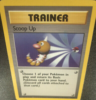 Scoop Up 78/102 Vintage Base Set Non-holo Rare Pokemon Trainer Card