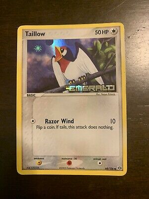 Pokemon - Taillow 68/106 - Holo - EMERALD Stamped! *See Pics!*