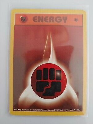 FIGHTING ENERGY 127/132 1st Edition Gym Heroes WOTC Pokemon Card PLAYED