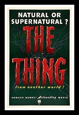 The Thing From Another World * Cinemasterpieces Horror Movie Poster Sci Fi 1951