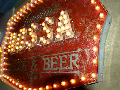 Theater Vintage Marquee Light Art 48x38x4 Indoor Commercial Restaurant