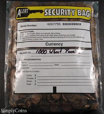 Sealed Bank Bag Of 1000 Lincoln Wheat Penny Cents Us Coin Lot Set 20 Rolls