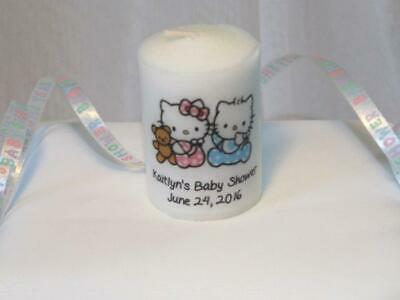 Hello Kitty Votive Candle Favors - Baby Shower Candle Favors, Birthday Favors