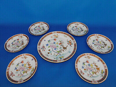 Herend Shanghai Plate Set With Big Serving Plate Porcelain With Antique Sign!