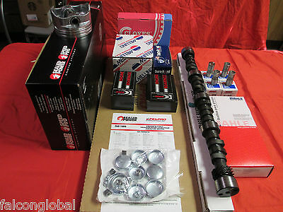 Ford 351w Master Engine Kit Torque Cam Moly Rings Flat Top Pistons 1984-6/87