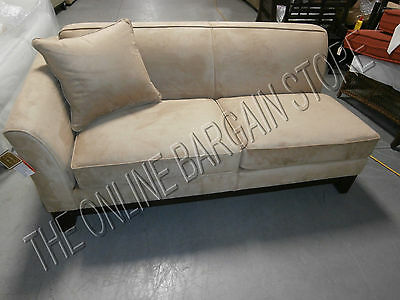 Pottery Barn Greenwich Sofa Couch Sectional Loveseat Oat Everyday Suede New