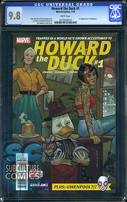 Howard The Duck #1 - Cgc 9.8 - Sold Out First Print - First Appearance Gwenpool