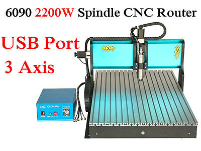 2200w Engraver 3 Axis Mach3 Usb Port 6090 Cnc Router Engraving Carving Machine