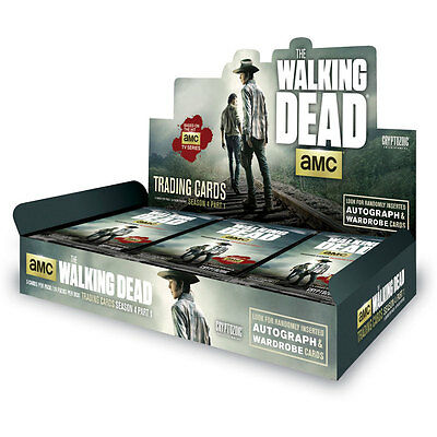 The Walking Dead Season 4 Part 1  Case 12 Box Hobby Factory Sealed Cryptozoic
