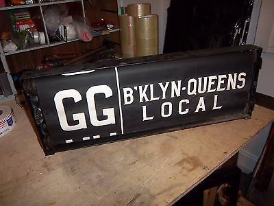 Vintage Nyc Subway Complete No. 3 Route Roll Sign & Box Rare Collectible Transit