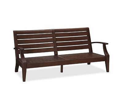 "Pottery Barn Outdoor Wood Chesapeake Occasional Grand Sofa Couch Frame 9"" Nib"