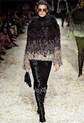 New Runway Tom Ford Mohair And Silk Looped-knit Jacket Coat Size M Sold Out