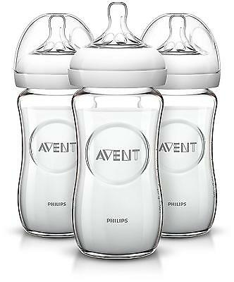 Philips Avent Natural Glass Bottle, 8 Ounce Pack Of 3