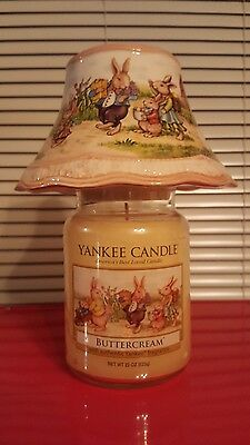Yankee Candle Vintage Easter Bunny Buttercream 22 Oz Jar Candle With 2012 Shade