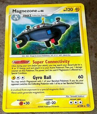 2008 Pokemon Holo Foil Card 6/100 Magnezone 120 Hp Diamond & Pearl Stormfront