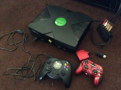Original Xbox Console 18 Games Controllers Lot Tested Works Great Cords Included