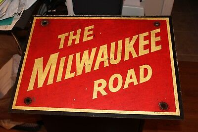 The Milwaukee Road Rail Sign Vintage Over 60 Years Old O.e.m.
