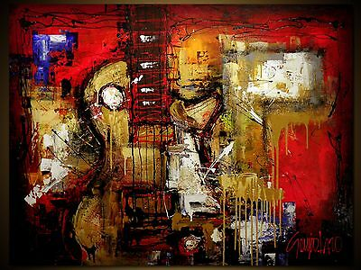 """Custom Art Contemporary Original Painting By S.lazo – Made To Order - 48"""" X 60"""""""