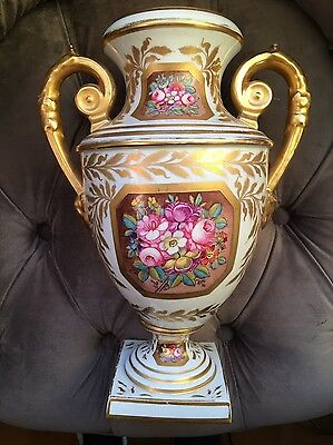 Antique Russian Porcelain Vase Mid-19thc Popov Porcelain Factory Signed