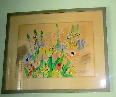 Dr. Freddy Homburger : Signed Orig Framed Watercolor Painting; Worked W/ R. Dufy