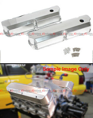 For Sbf Ford Polished Fabricated Aluminum Valve Covers - Short Bolt 289 302 351w