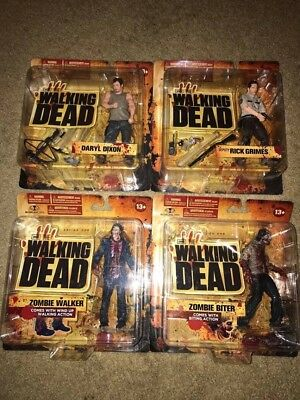 Mcfarlane The Walking Dead Action Figures Series One Complete Set Of 4 Sealed
