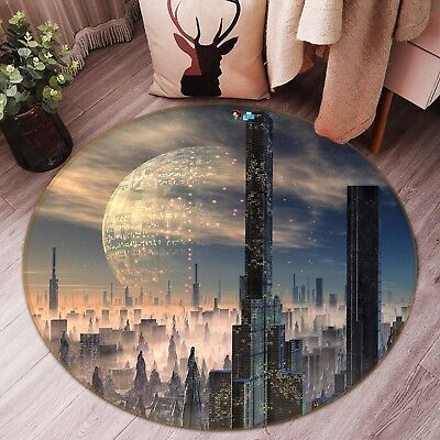 3d Alien World 6 Non Slip Rug Mat Room Mat Round Quality Elegant Photo Carpet Ca
