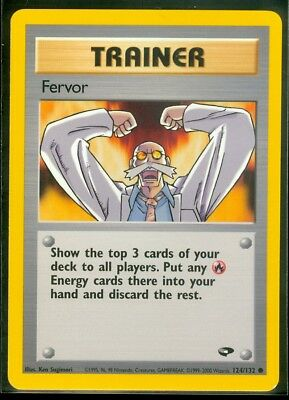 Pokemon FERVOR 124/132 Gym Challenge - - MINT