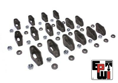Steel 1.5 Ratio Long Slot Rocker Arms Set For Chevrolet Sbc 283 327 350 383 400