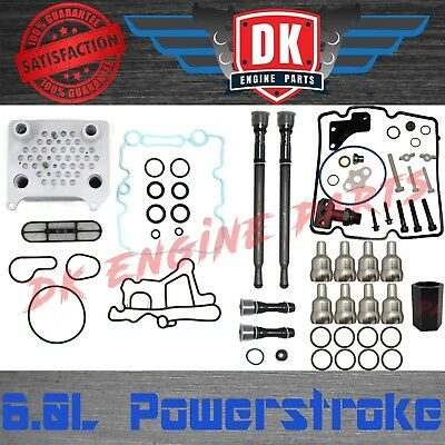 6.0l Powerstroke Oil Cooler Stc Stand Pipes High Pressure Oil Rail Tubes Tool