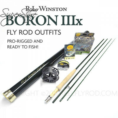 winston boron iiix 490 4 fly rod outfit (9