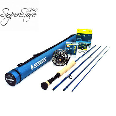 sage motive 1290 4 fly rod outfit w/sage 6012 reel (9