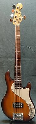 fender american deluxe dimension bass v electric bass guitar (used)