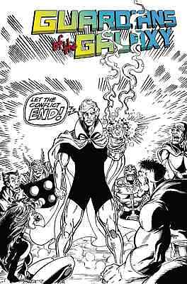 Guardians Of The Galaxy 150 Ron Lim 1:2000 Remastered B&w Incentive Variant Nm