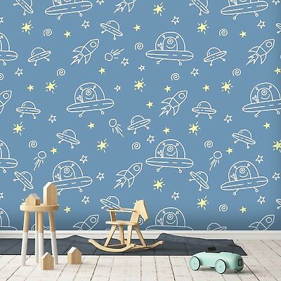 3d Alien Rocket Space 4 Wall Paper Wall Print Decal Wall Deco Indoor Wall Murals