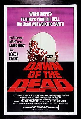 Dawn Of The Dead * Cinemasterpieces Movie Poster Zombie Horror Walking 1978 Nm-m