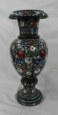 green marble flower vase inlay art exclusive collectible home decorative