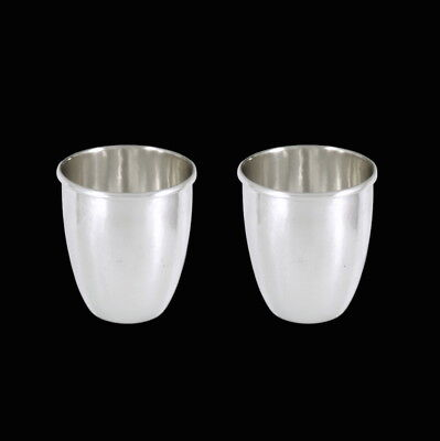 georg jensen. a pair of hammered sterling silver cups #372b  1933 1944