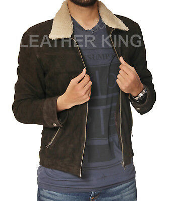 The Walking Dead Rick Grimes Season 4 Suede Brown Leather Jacket -all Sizes Bnwt