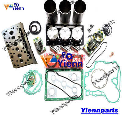 D1503 Cylinder Head + Overhaul Rebuild Kit Kubota Engine Excavator Repair Parts