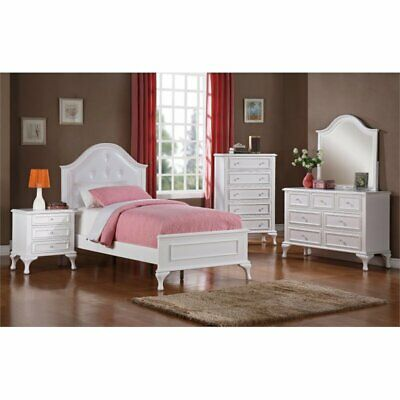 Picket House Furnishings Jenna 5 Piece Full Kids Bedroom Set In White
