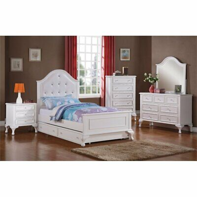 Picket House Furnishings Jenna 4 Piece Full Bedroom Set In White