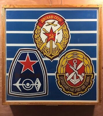 Amazing Vintage Wall Sign Made In Czechoslovakia Centre Piece Retro Light Box