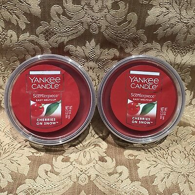 Yankee Candle  Cherries On Snow  Scenterpiece Easy Melt Cup Set Of 2